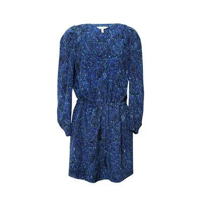 Rebecca Taylor Size 4 Blue Print Dress