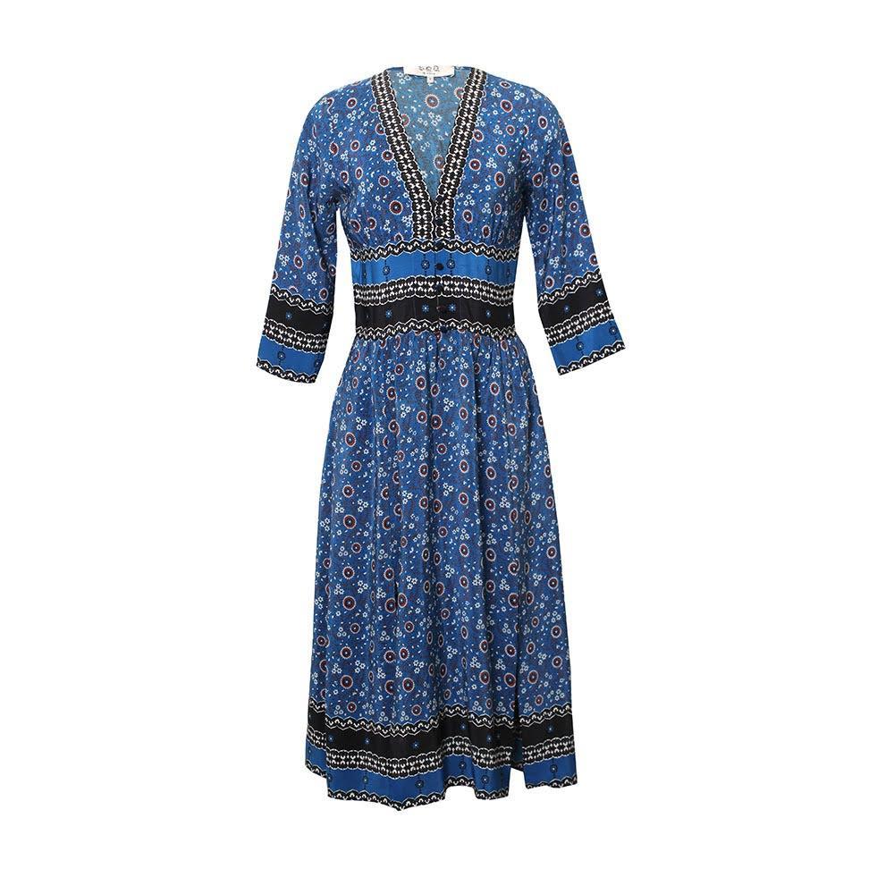 Sea Blue Size 2 Pattern Dress