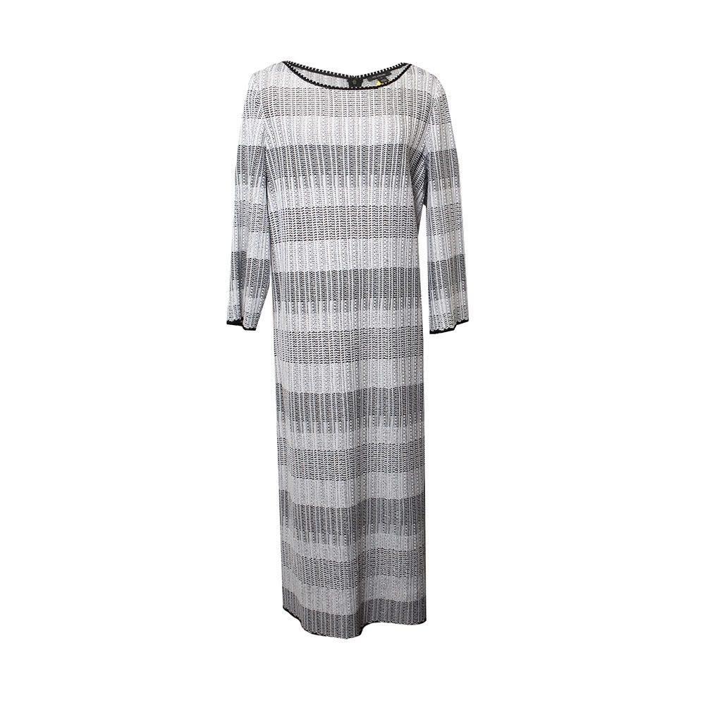 St.John Size 18 Black And White Dress
