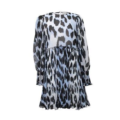 Ganni Size Medium Blue Leo Dress