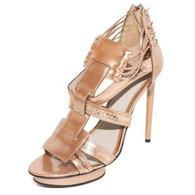 Jason Wu Size 39.5 Bronze Metallic High Heels