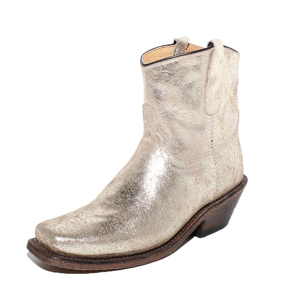 Cofi Leather Size 7 Metallic Boots