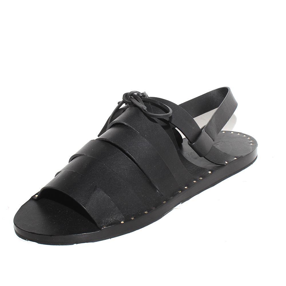 Jil Sander Size 41 Lace Up Leather Sandal
