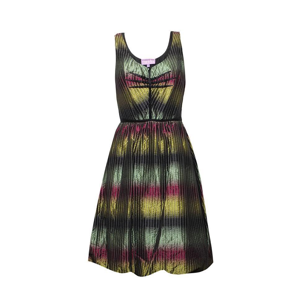 Vivienne Tam Size 6 Small Multicolor Dress