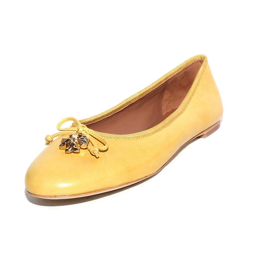 Tory Burch Size 6.5 Yellow Flats