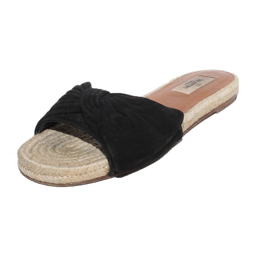Valentino Size 37 Bow Espadrille Sandals