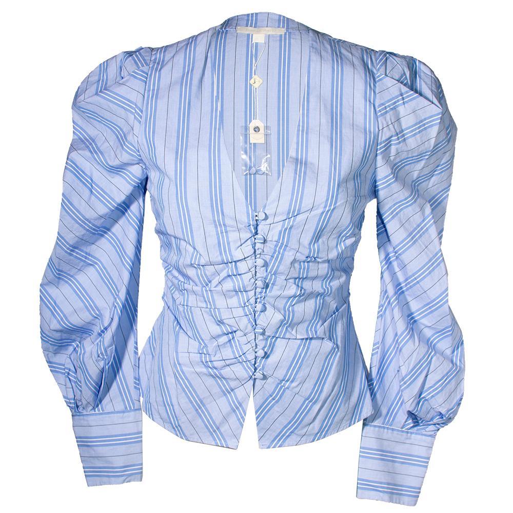 Jonathan Simkhai Size 2 Blue Blouse