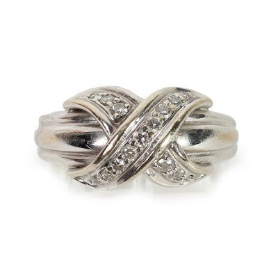 Tiffany & Co. Size 5.5 Vintage 'X' Ring
