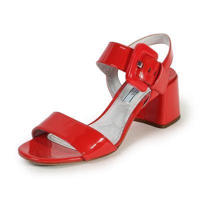 Prada Size 38 Patent City Sandal