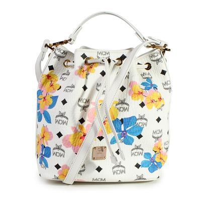 MCM Essentials Floral Bucket Bag