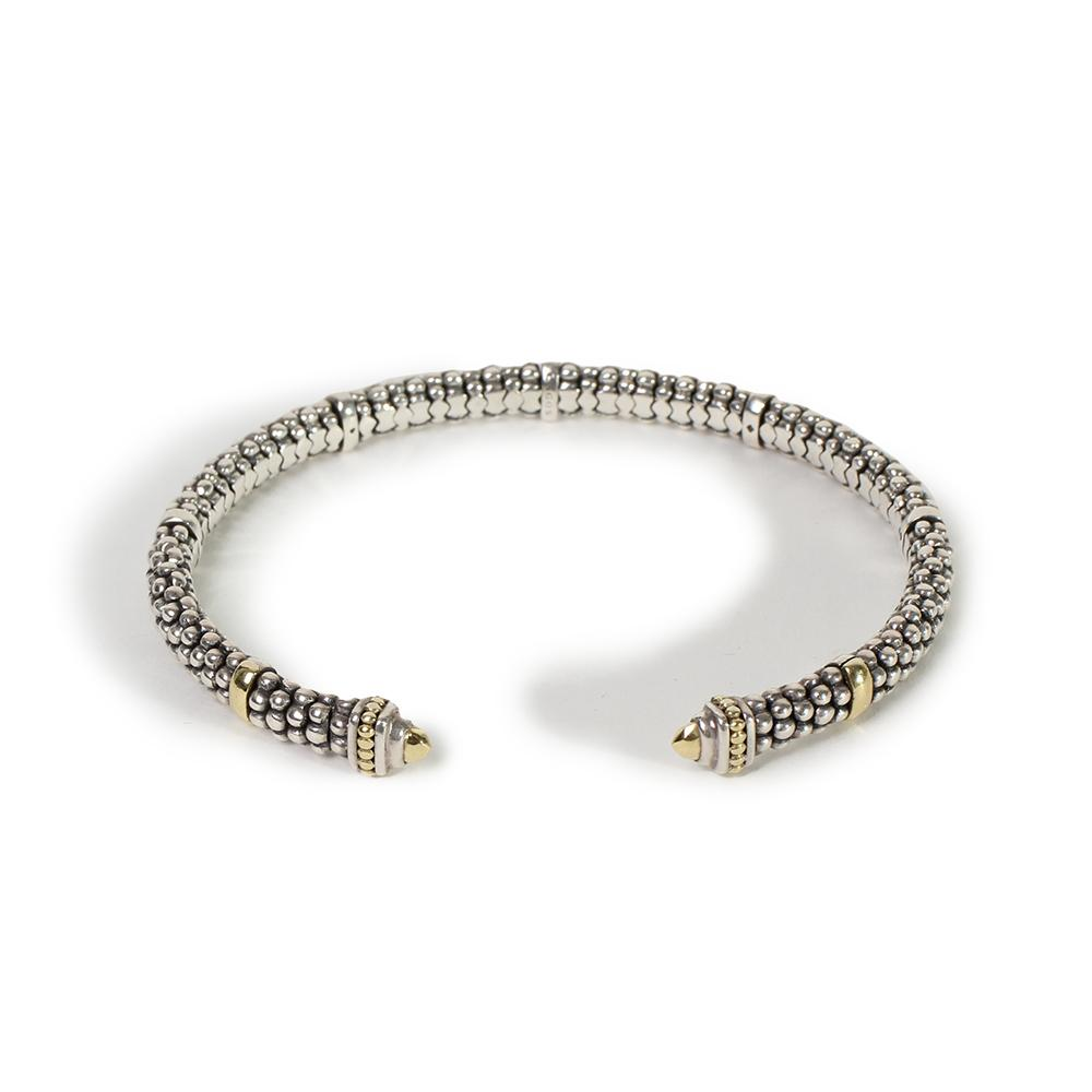 Lagos Sterling Silver Mini Torque Caviar Bracelet
