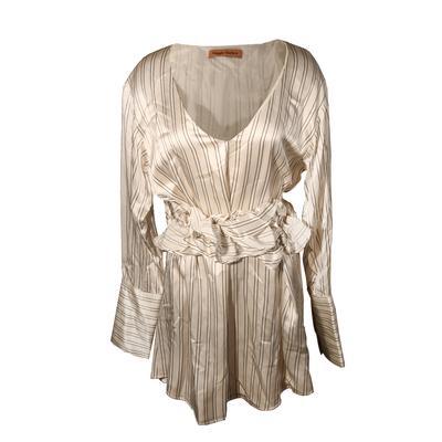 Maggie Marilyn Size Medium Striped Dress