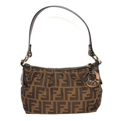 Fendi Brown Monogram Canvas Handbag