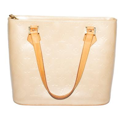 Louis Vuitton Tan Houston Vernis Leather Handbag