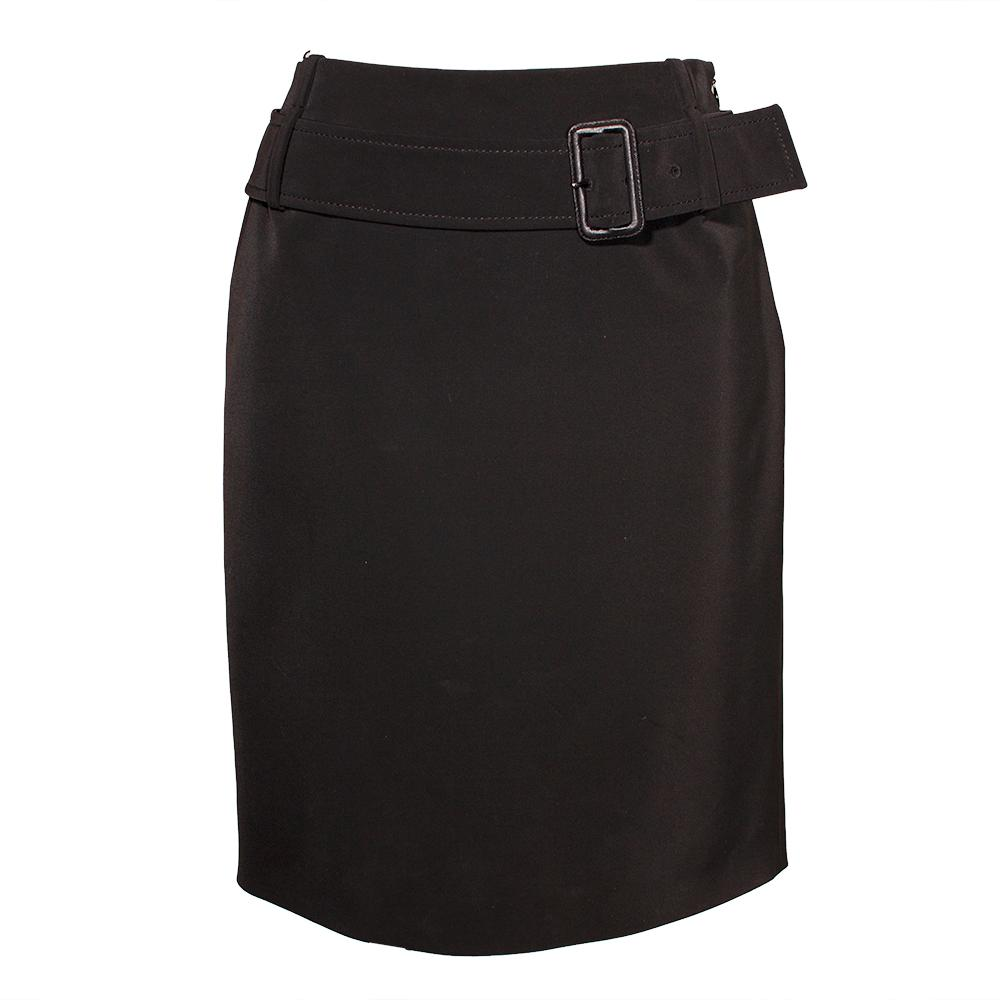 Prada Size 40 Black Nylon Skirt
