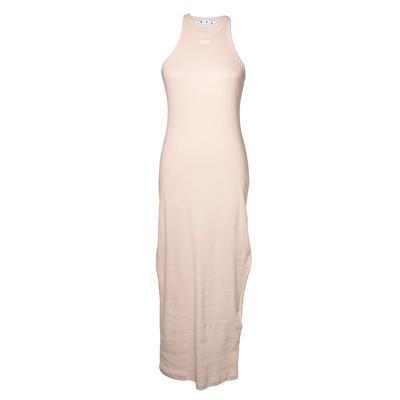 Off White Size 44 Tan Ribbed Maxi Dress