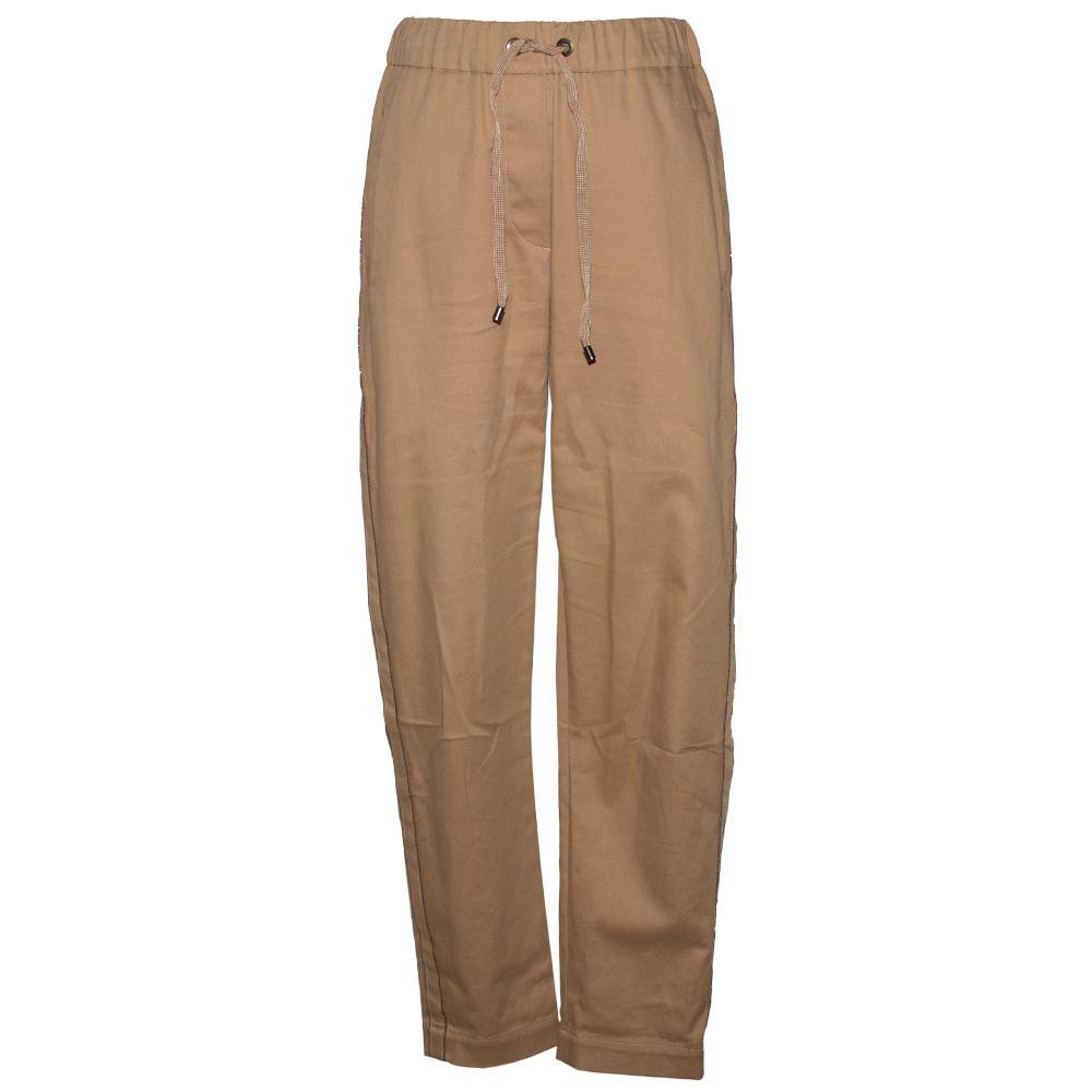 Brunello Cucinelli Size 2 Tan Monili Drawstring Pants