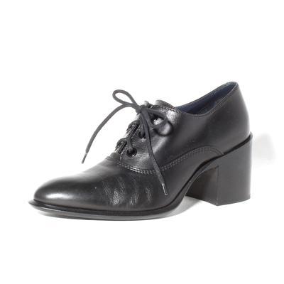 Celine Size 38.5 Black Lace Up Heels
