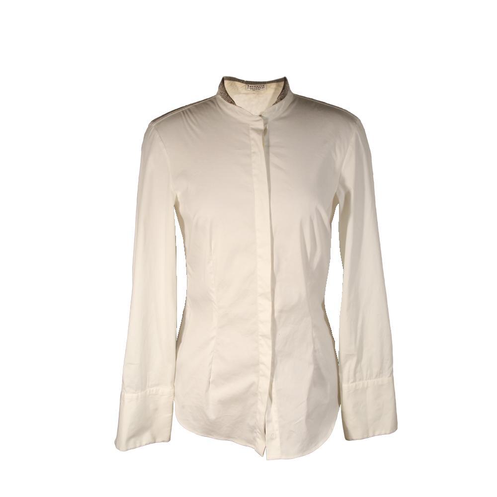 Brunello Cucinelli Size Medium Organza Dress Shirt