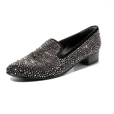 Stuart Weitzman Size 8.5 Studded Loafer Slip On
