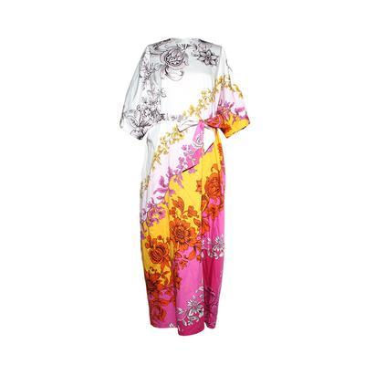 Erdem Size Small/Medium Floral Maxi Dress w/ Belt