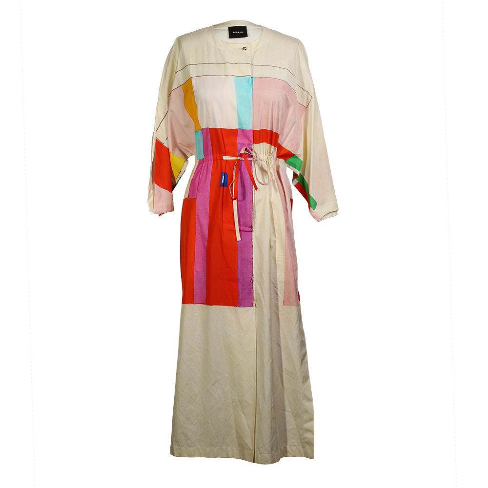 A- K- R- I- S- Size 2 Mural Print Drawstring Dress