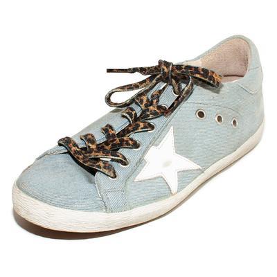 Golden Goose Size 40 Blue Canvas Superstar Sneakers