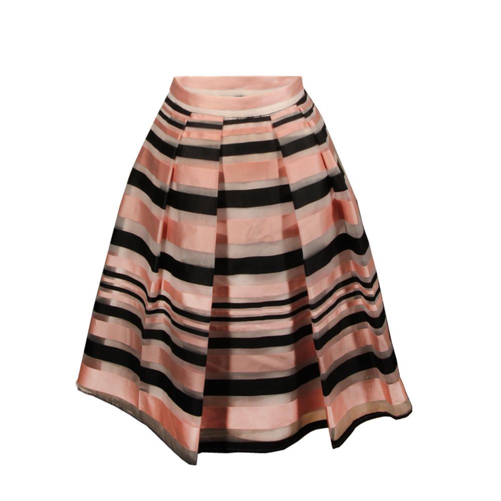 Pink Size 6 Tartan Organza Skirt