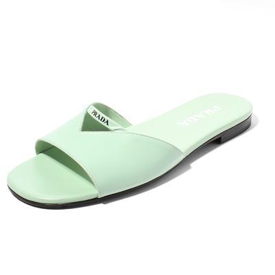Prada Logo Size 37.5 Slide Sandal