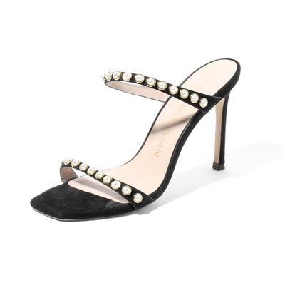 Stuart Weitzman Size 6.5 Aleena 75 Pearl High Heel