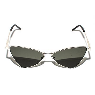 Saint Laurent Silver Jerry Rhombus Sunglasses