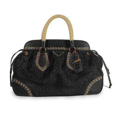 Prada Paglia Vitello Daino Handbag