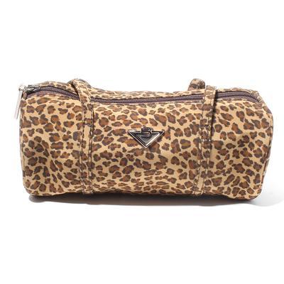 Bottega Veneta Vintage Leopard Nylon Zip Mini