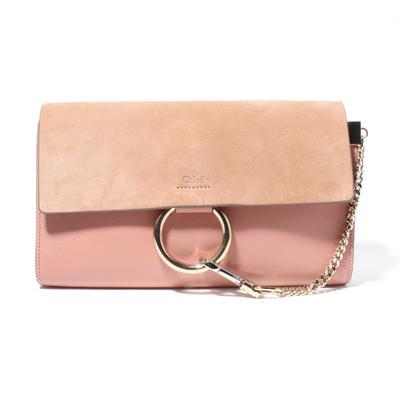 Chloe Faye Ring Leather Clutch