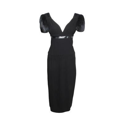 Prada Size 38 Fur Sleeved Dress