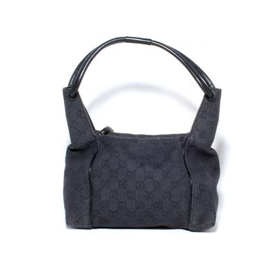 Gucci Monogram Canvas Zip Hobo Bag