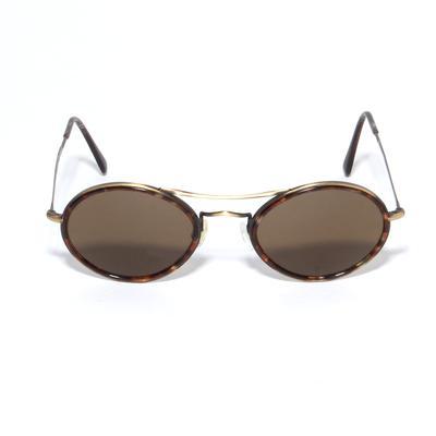 Giorgio Armani Vintage Round Tortoise Sunglasses