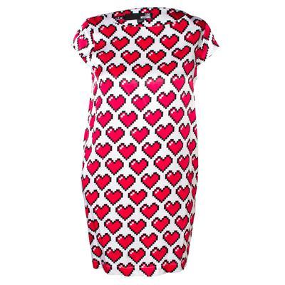 Moschino Size 38 Red Love Moschino Heart Dress