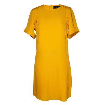 Gucci Size 38 Yellow Plain Short Sleeve Cutout Dress