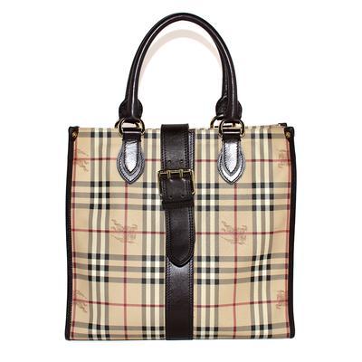Burberry Tan Leather Nova Tote Bag