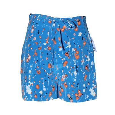 Equipment Size 4 Blue Floral Print Shorts