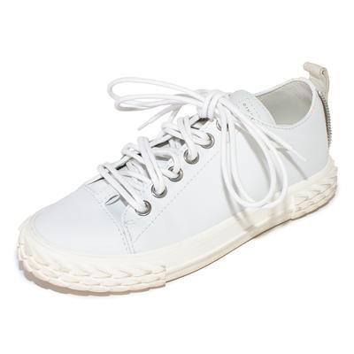 Giuseppe Zanotti Size 37.5 White Leather Sneakers