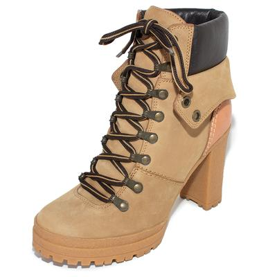See by Chloe Size 38 Tan Suede Boot Heels