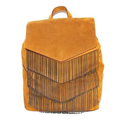 Ninael Roma Large Brown Suede Flap Backpack