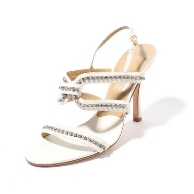 Valentino Size 39 Crystal Strappy Sandal Heels