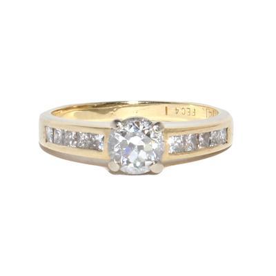 14k Gold Diamond Ring Size 6