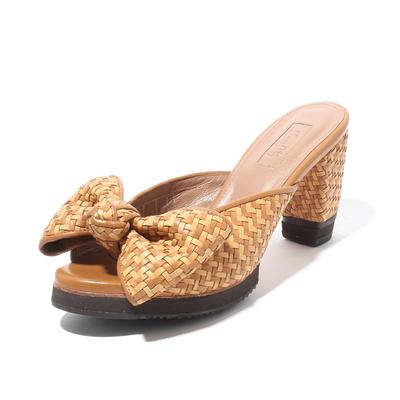 Johanna Ortiz Size 6 Weaved Leather Sandal