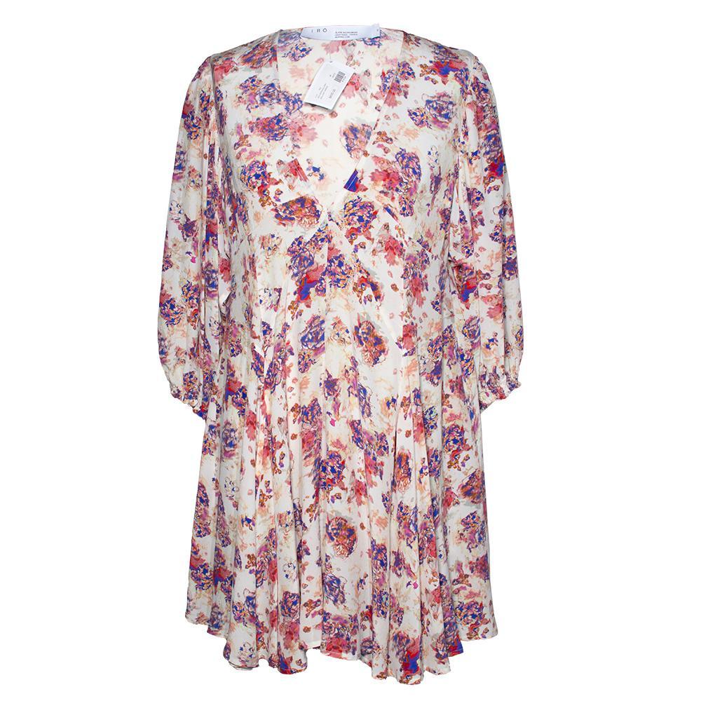 Iro Size 38 White Floral Dress
