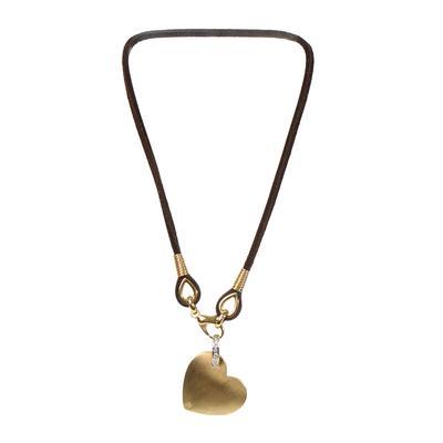 18KYG Vintage 1990 Heart Necklace