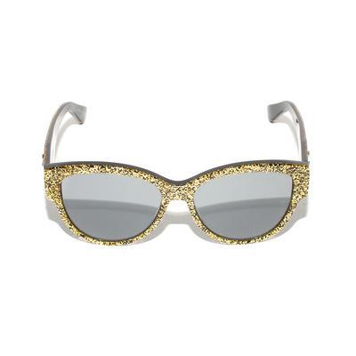 Saint Laurent Gold Glitter Sunglasses